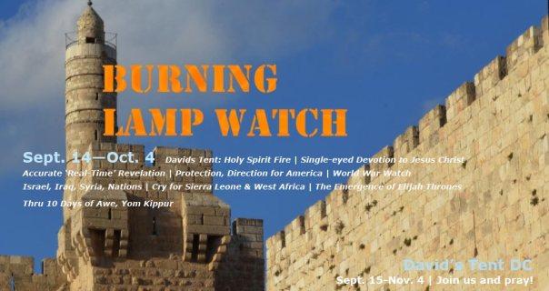 Burning-Lamp-Watch-Wall