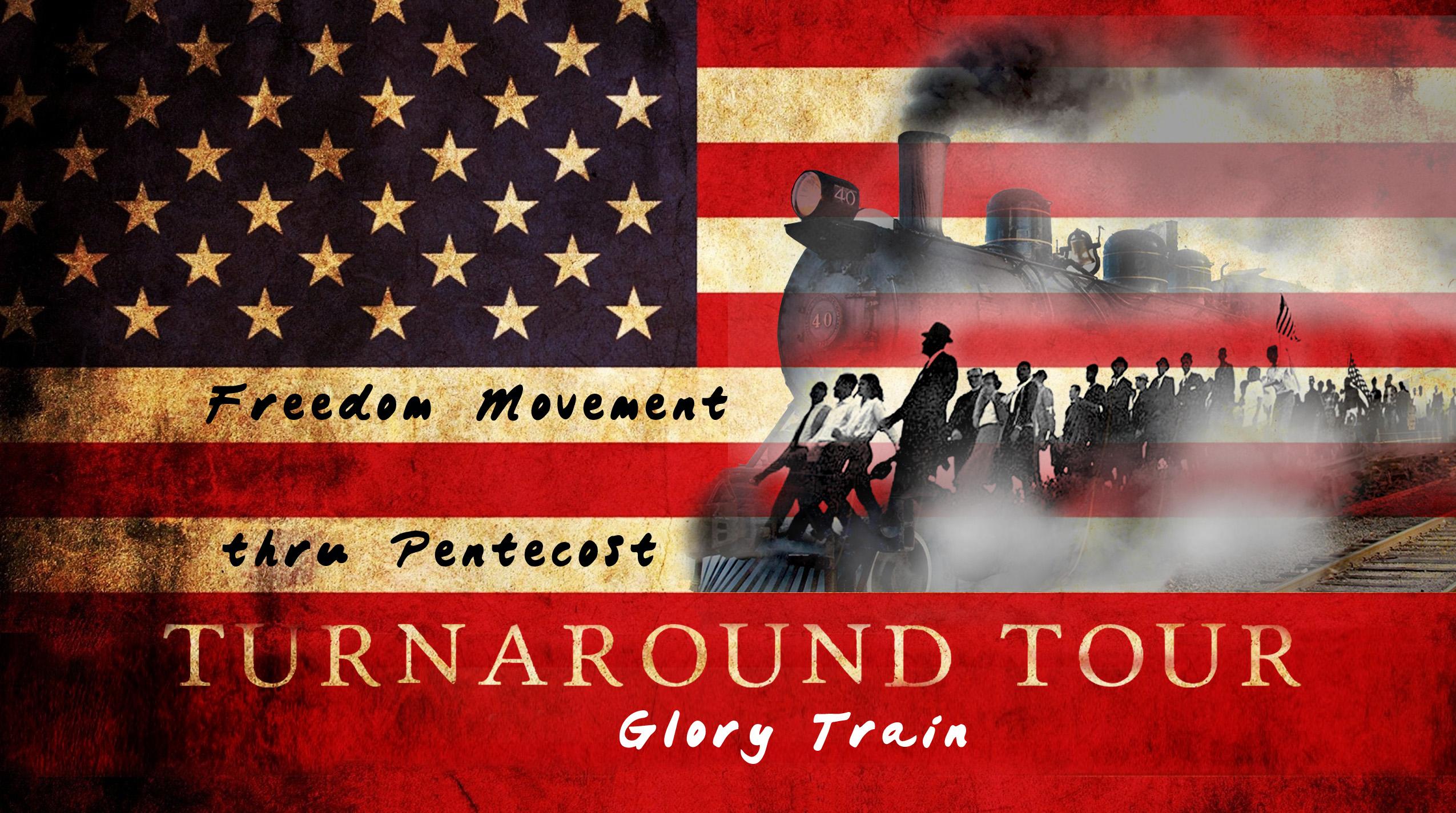 Freedom Movement Flag Train